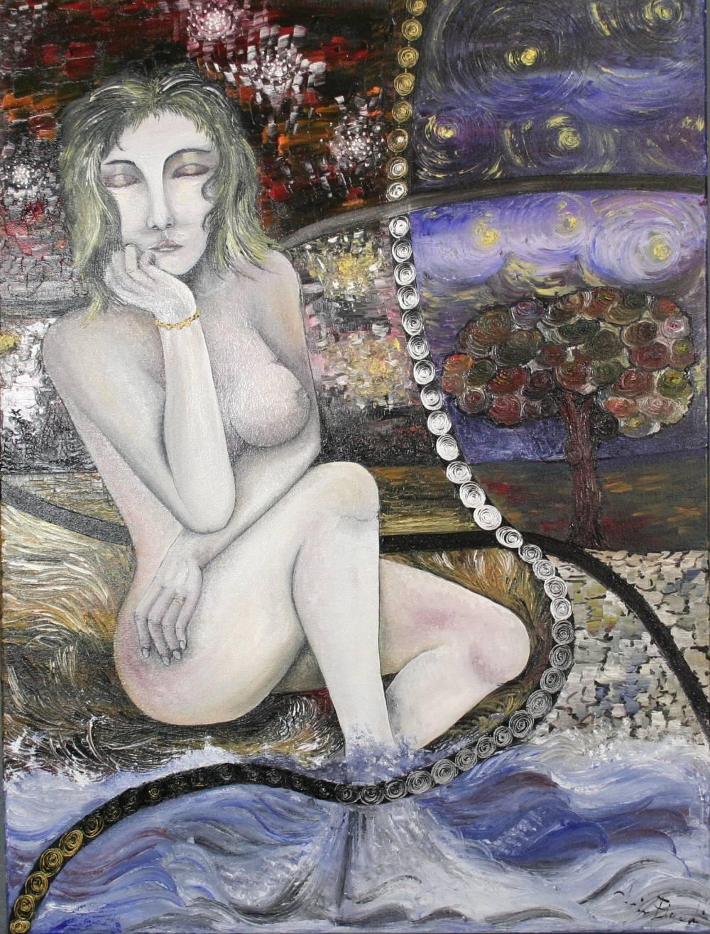 LA NOTTE DI LORENZA - quadro 60 cm x h 80 cm - olio su tela - anno 2014
