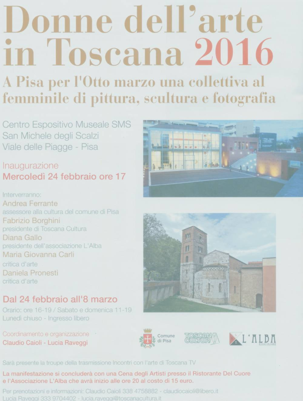 DONNE dell´ARTE in TOSCANA 2016