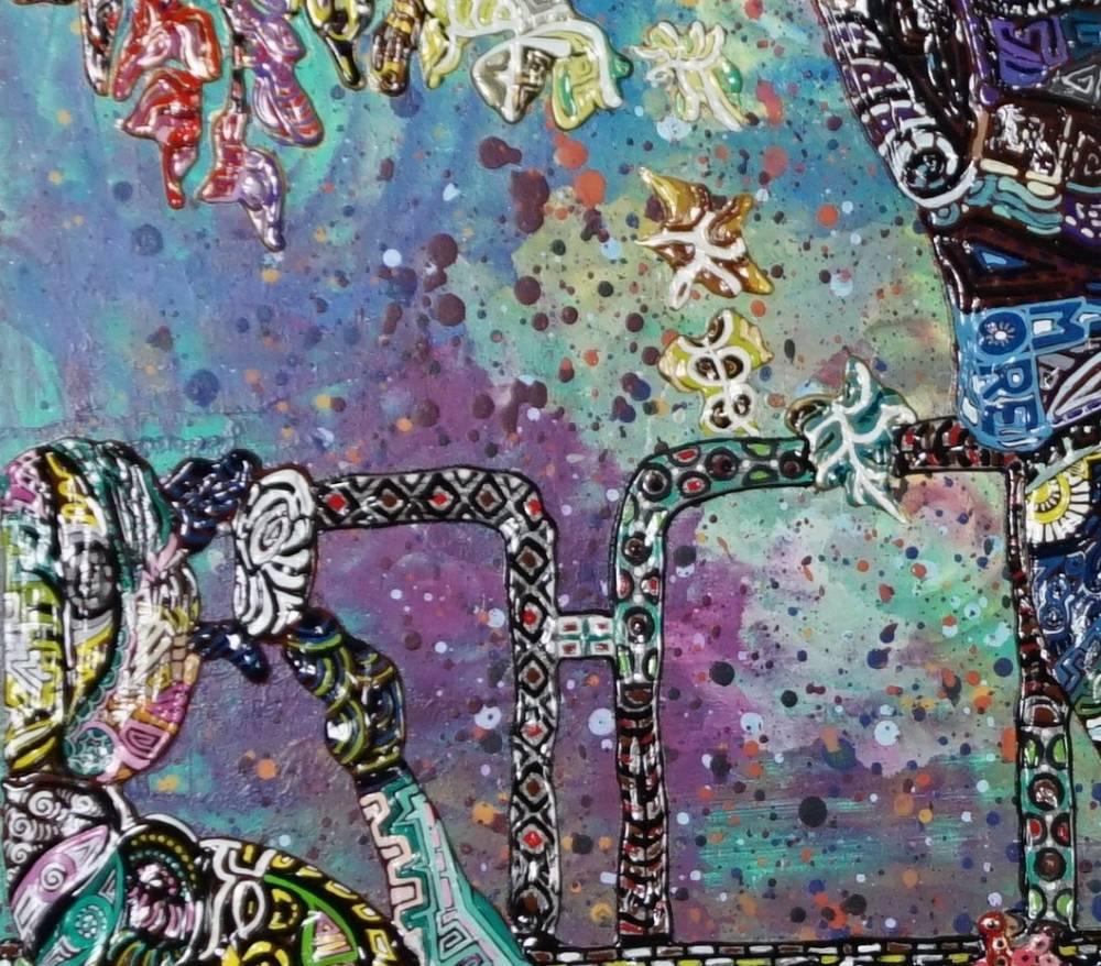 Frammento OMBRE DEL DOPPIO AMORE - quadro a NEW YORK