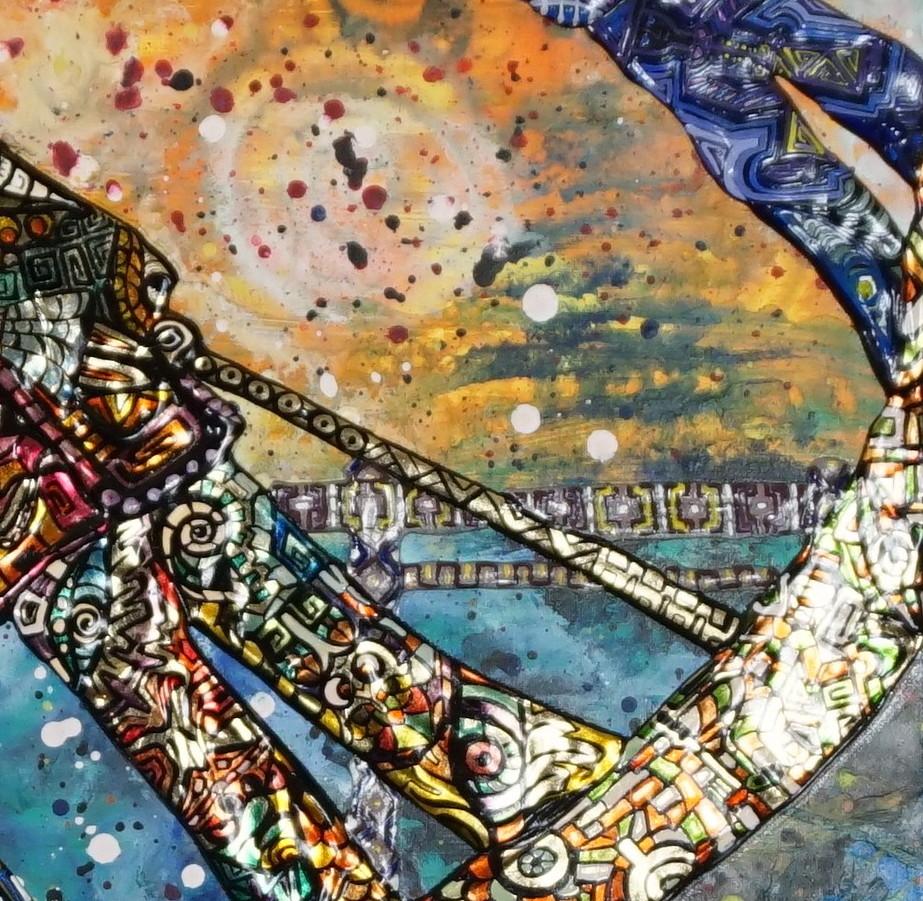 Frammento OMBRE DI ASSENZA - quadro a NEW YORK