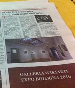 1 ° ARTICOLO di REPUBBLICA per Expo Bologna 2016