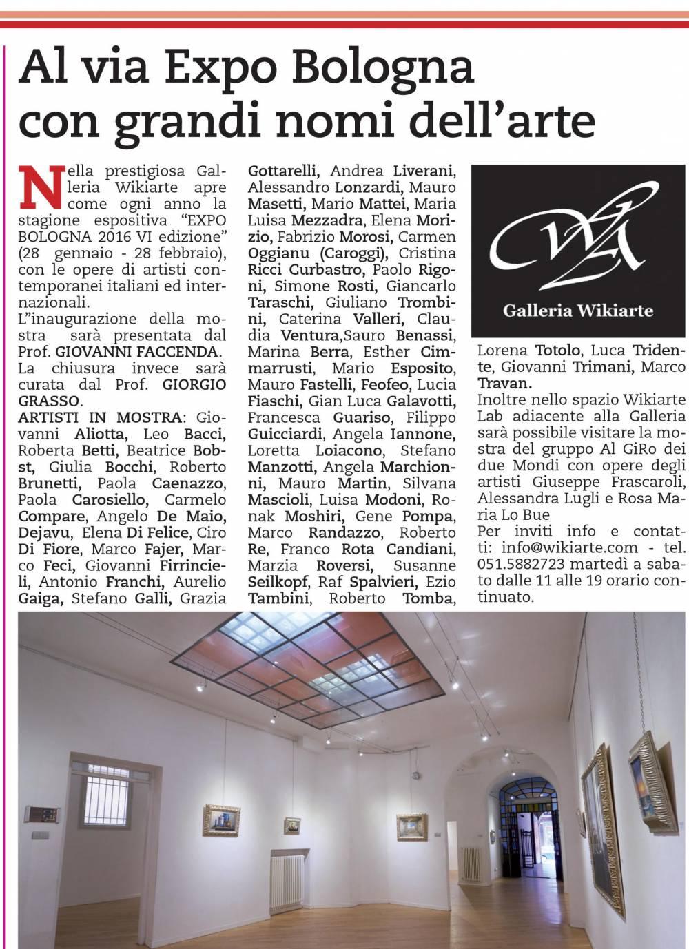 2 ° ARTICOLO di REPUBBLICA per Expo Bologna 29016